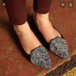 DV zebra calf hair flats from Anthropologie